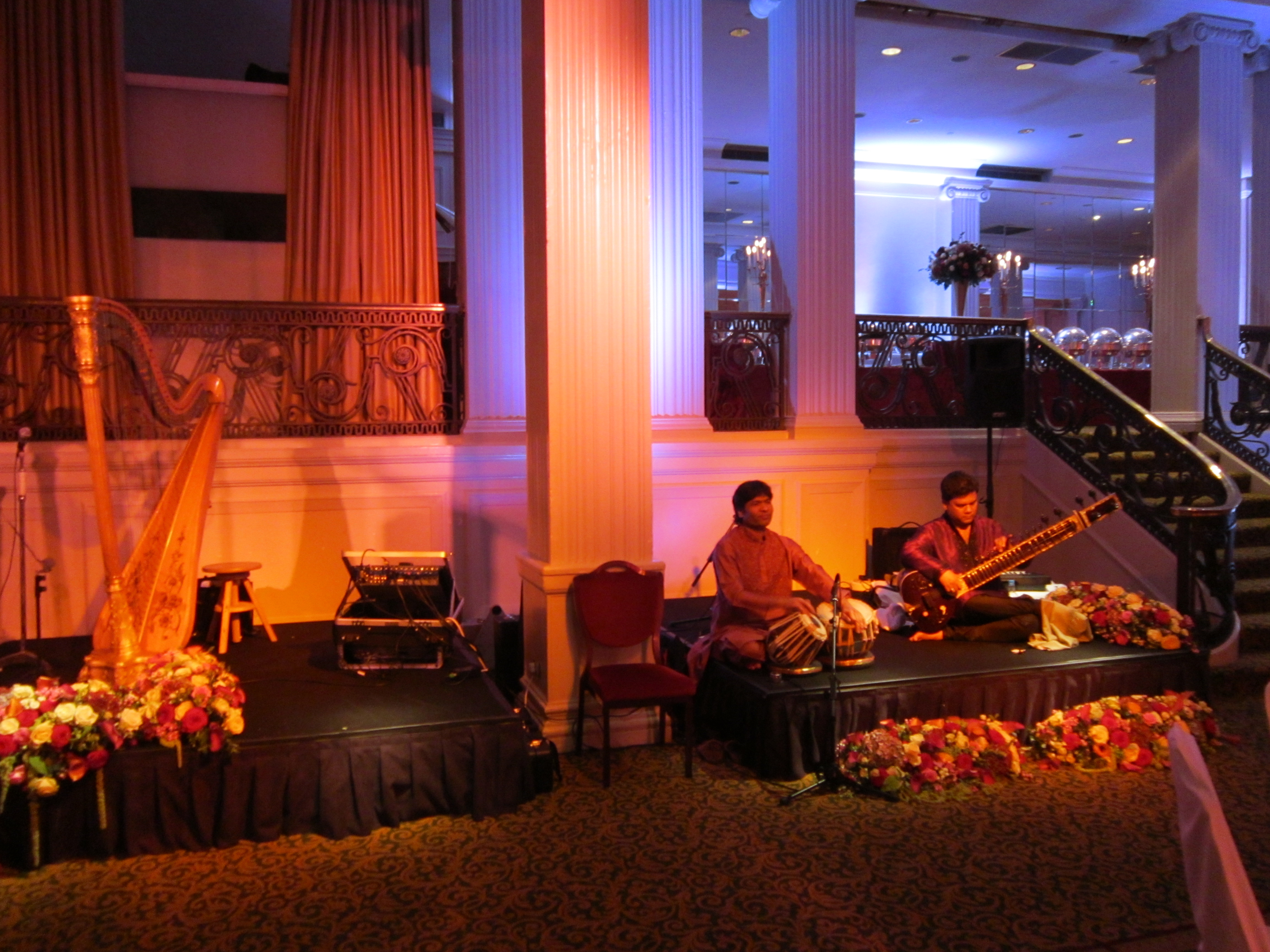 Set up with Indian band for a function at The Grosvenor Hotel